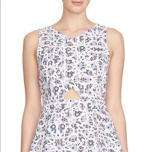 NWT CeCe Eastyn Mosaic Print Cutout Dress